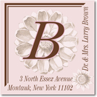 Name Doodles - Square Address Labels/Stickers (Fleur Pink)